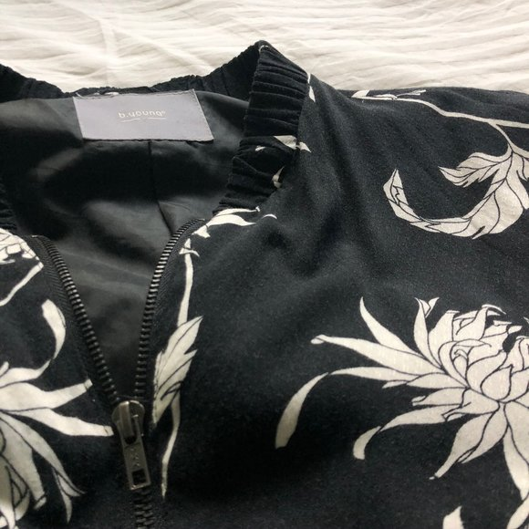 b.young Floral Bomber
